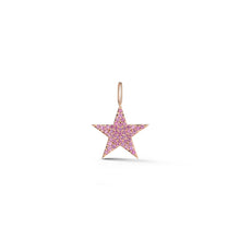 ABC x WF DORA 18K ROSE GOLD ALL PINK SAPPHIRE STAR