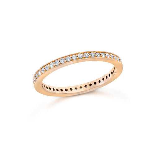 GRANT 18K DIAMOND 2MM CUBED BAND RING