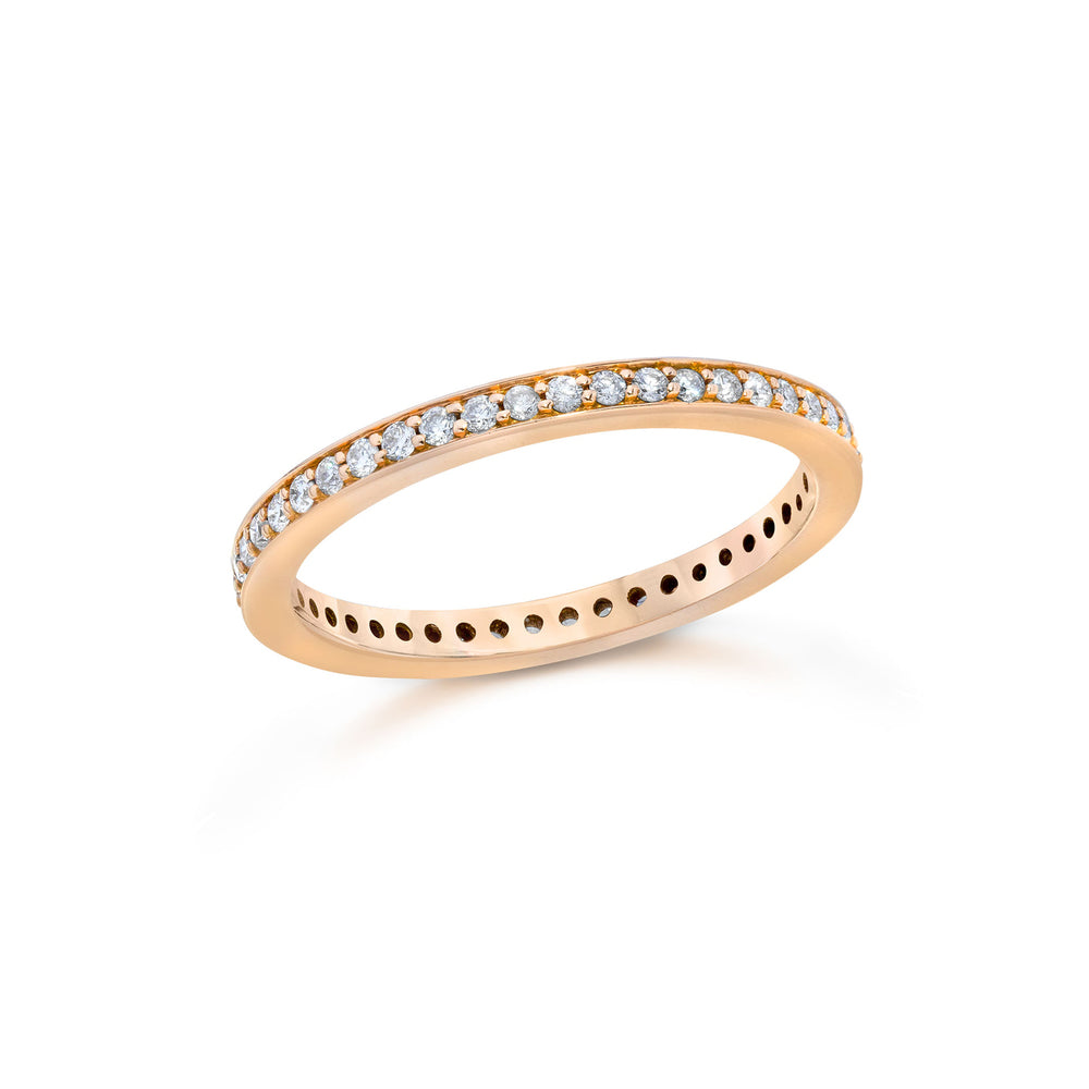 GRANT 18K AND DIAMOND 2MM CUBED BAND RING