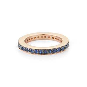 GRANT 18K 3MM SAPPHIRE BAND RING