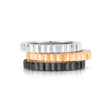CLIVE 18K 3MM FLUTED STACKABLE BAND RING