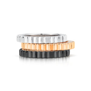 CLIVE 18K FLUTED STACKABLE BAND RING