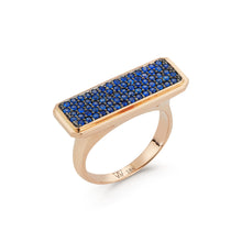 CARRINGTON 18K SAPPHIRE ID BAR RING