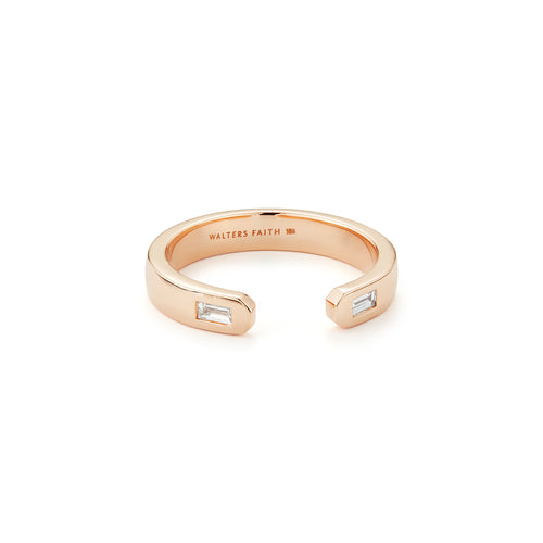 Ottoline 18K Diamond Baguette Cuff Ring