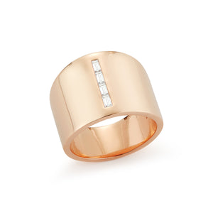 OTTOLINE 18K AND DIAMOND CIGAR BAND