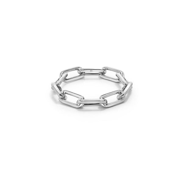 SAXON STERLING SILVER CHAIN LINK RING
