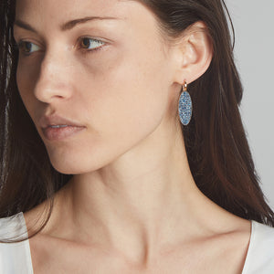 LYTTON 18K SAPPHIRE OVAL DROP EARRINGS