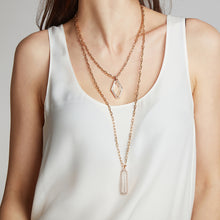 SAXON 18K CHARM CHAIN NECKLACE