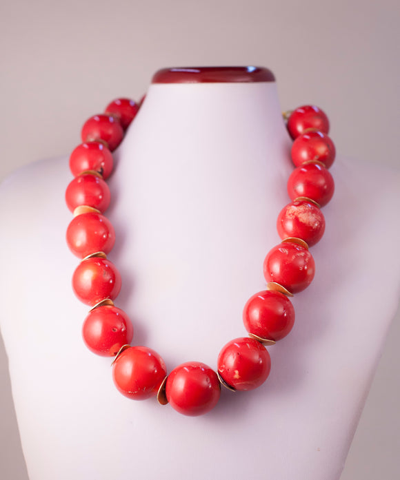 Short Coral Necklace