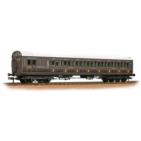 Bachmann 39-620A SECR 60′ Birdcage Brake Third SE & CR Dark Lake