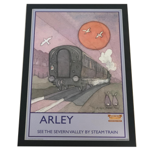 ONLY ONE AVAILABLE Limited Edition Severn Valley Railway Arley Artwork Framed by Alan Reade