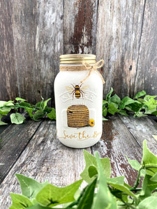 Wonderland Works Bee Hive One Litre Mason Jar