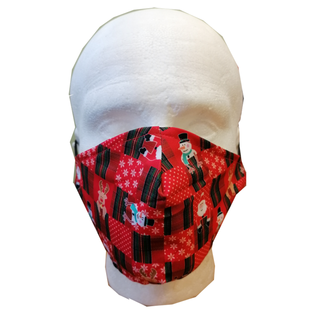 Festive Face Mask - Christmas Checkerboard