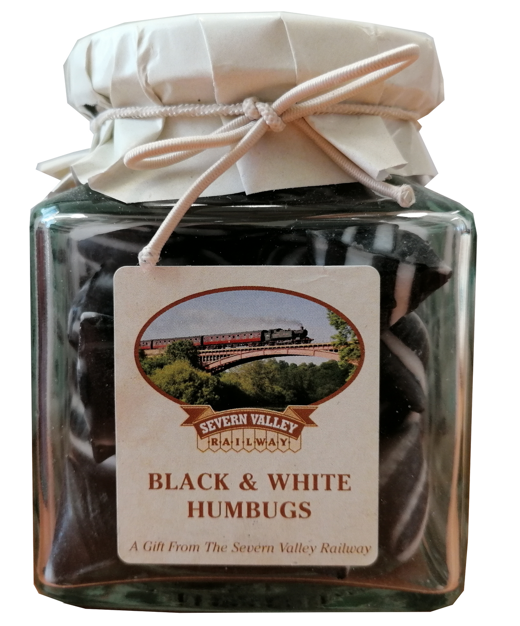 Severn Valley Railway Black and White Humbug Jar