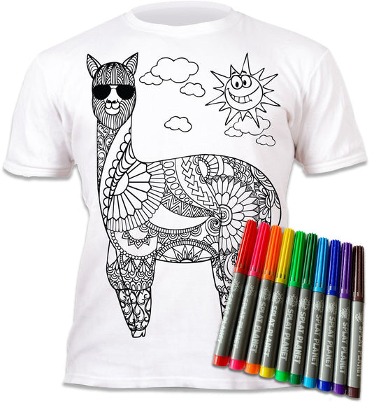 Splat Shirt Colour In T Shirt La-La-Llama