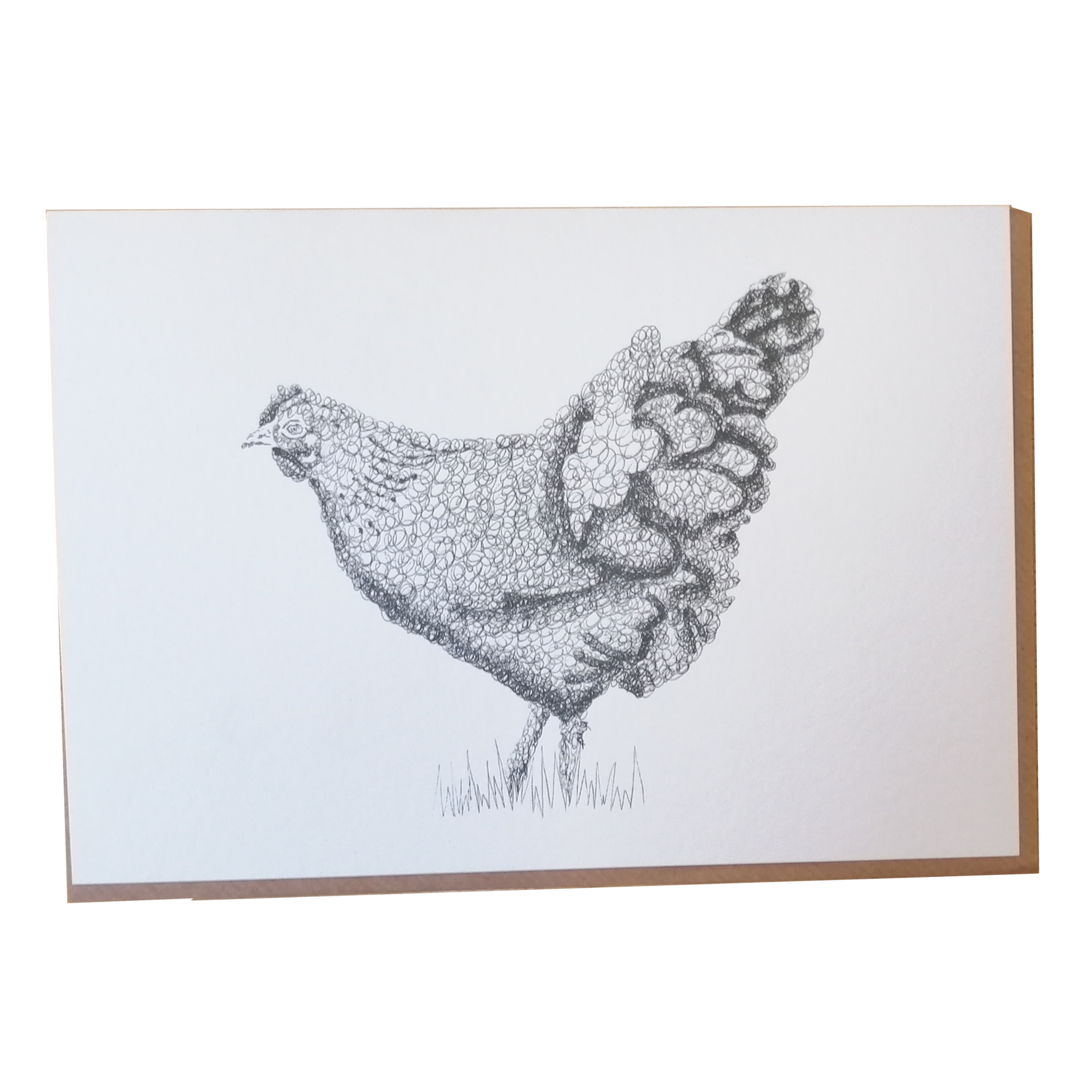 Hetty the Chicken Scribble Art Greetings Card by Anneka Smith