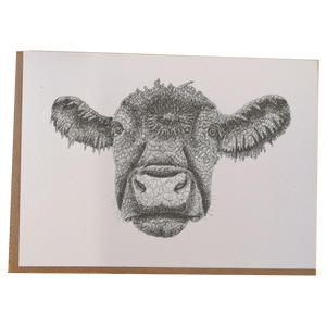 'Can I Help Moo?' Scribble Art Greetings Card by Anneka Smith