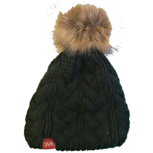 Severn Valley Railway Bobble Hat with detachable fluffy bobble
