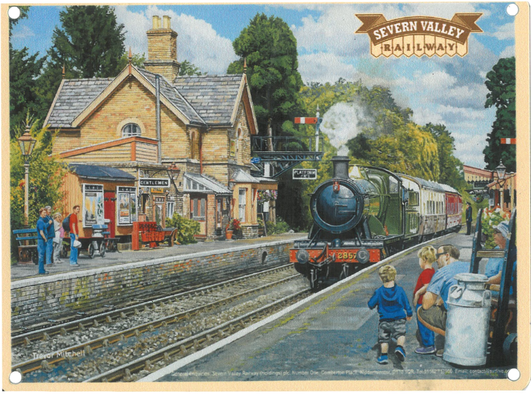 Severn Valley Railway Arley Station Metal Sign (Large)