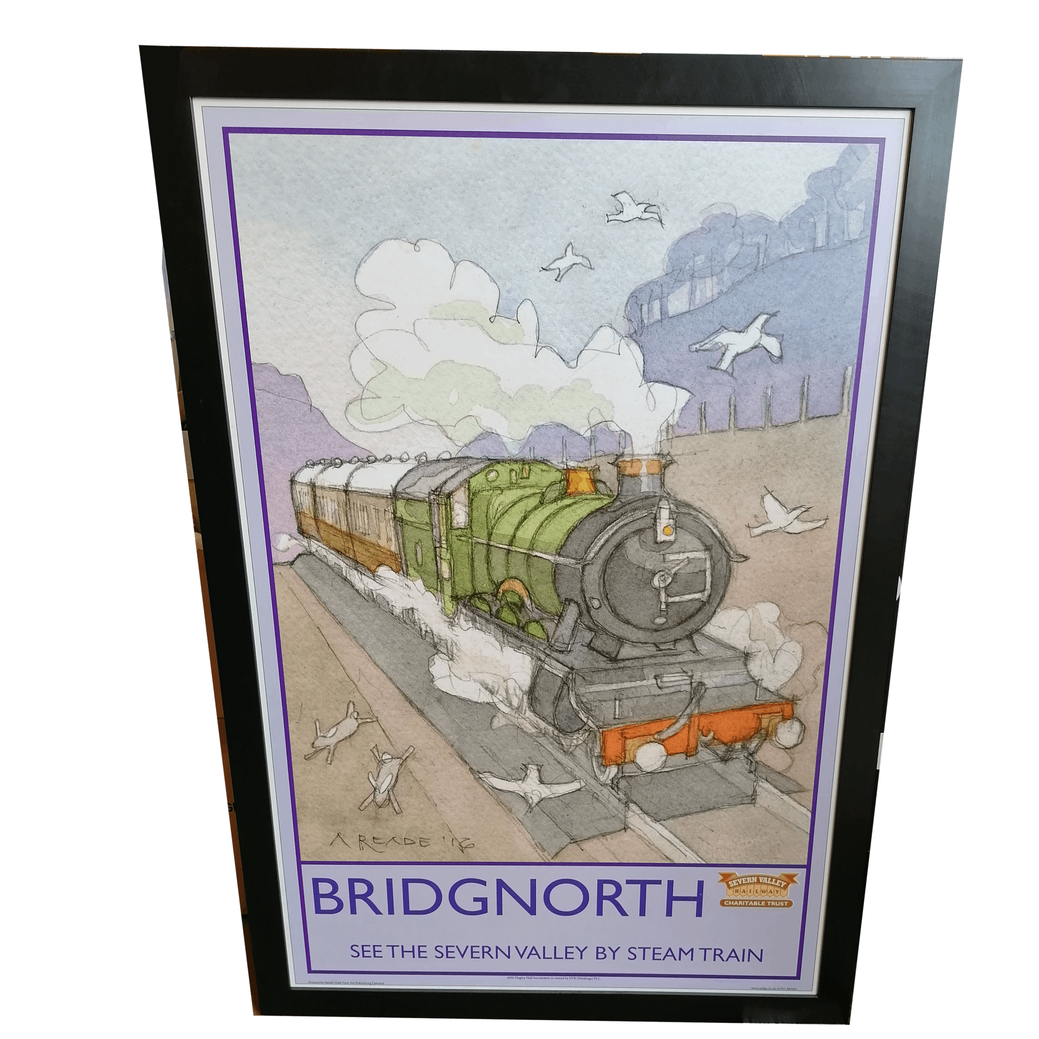 ONLY ONE AVAILABLE Limited Edition Severn Valley Railway Bridgnorth Artwork (Framed) by Alan Reade