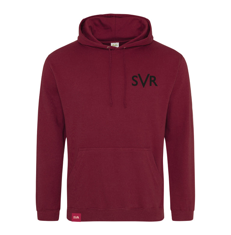 Burgundy Severn Valley Railway adult hooded sweatshirt -SVRW0025