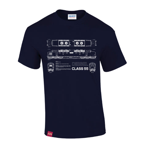 Navy Severn Valley Railway heavy cotton adult t-shirt -SVRW0002