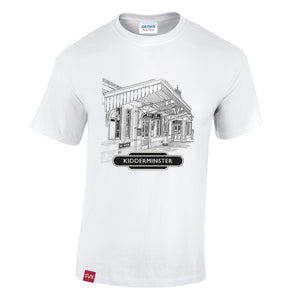 White Severn Valley Railway heavy cotton adult t-shirt -SVRW0003