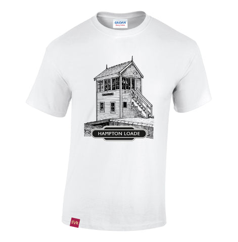 White Severn Valley Railway heavy cotton adult t-shirt -SVRW0004