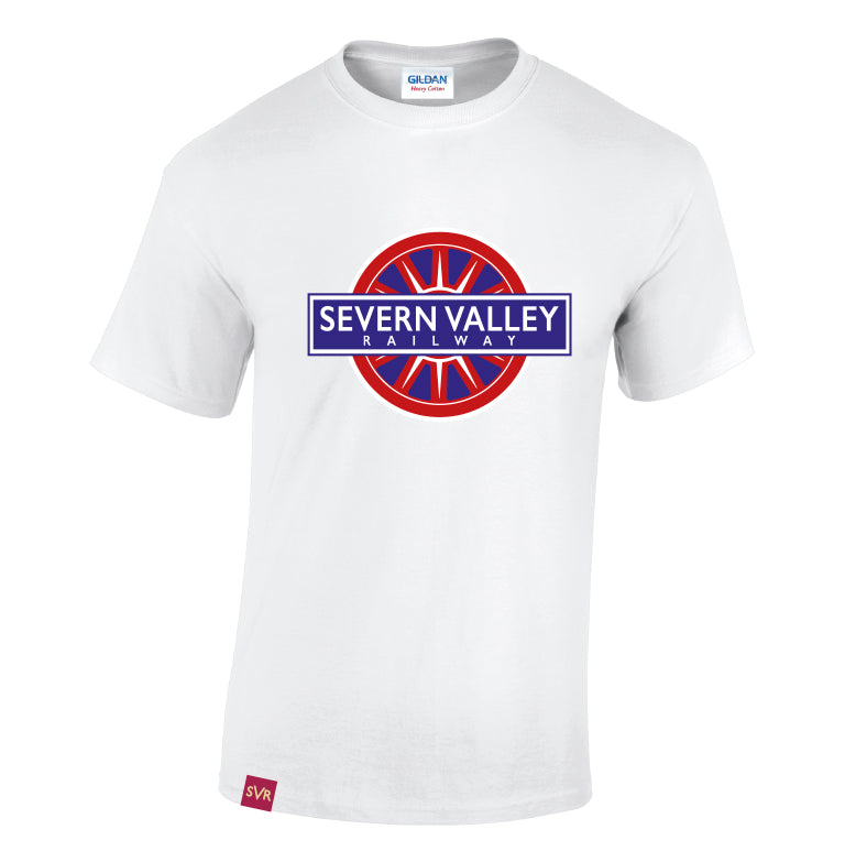 White Severn Valley Railway heavy cotton adult t-shirt -SVRW0007