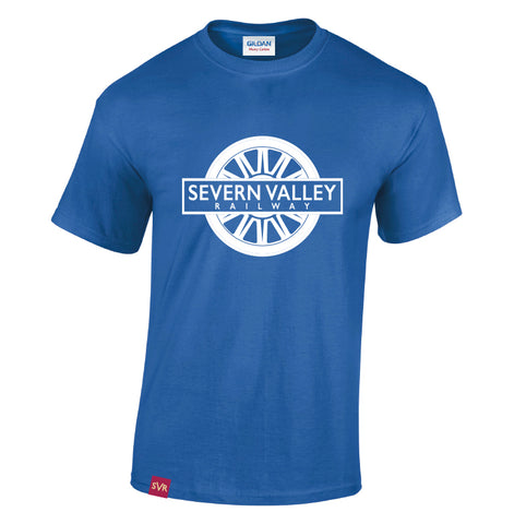 Royal Blue Severn Valley Railway heavy cotton adult t-shirt -SVRW0008