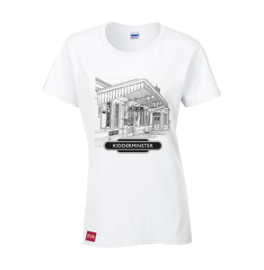 White Severn Valley Railway heavy cotton lady fit t-shirt -SVRW0009