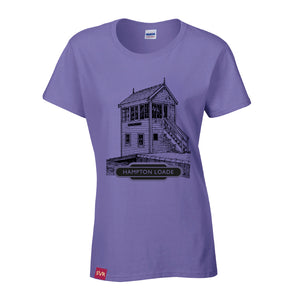 Lilac Severn Valley Railway heavy cotton lady fit t-shirt -SVRW0010