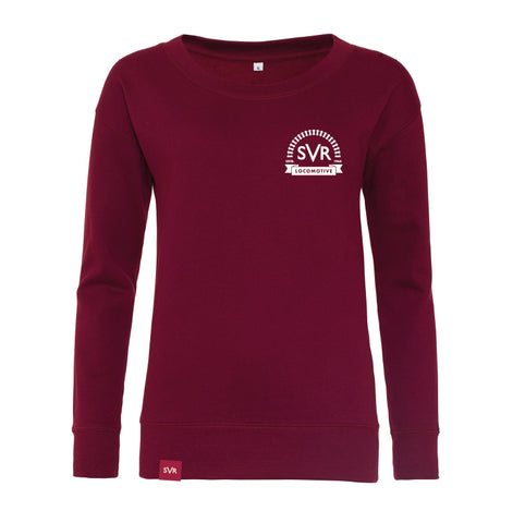 Burgundy Severn Valley Railway lady fit sweatshirt -SVRW0014
