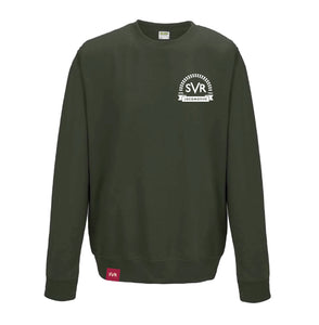 Olive green Severn Valley Railway adult sweatshirt -SVRW0016