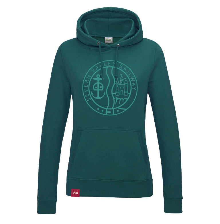 Jade Severn Valley Railway lady fit hooded sweatshirt -SVRW0018