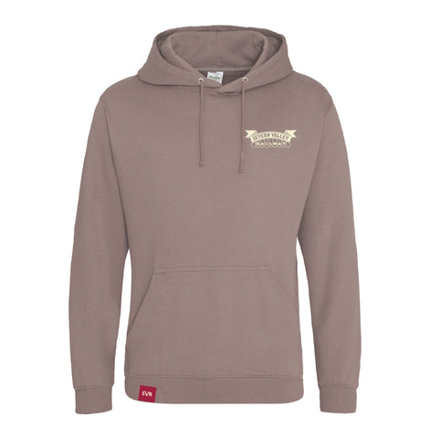 Mocha brown Severn Valley Railway adult hooded sweatshirt -SVRW0026