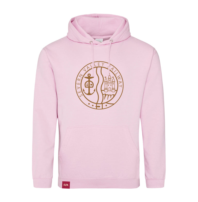 Baby pink Severn Valley Railway hooded sweatshirt -SVRW0027