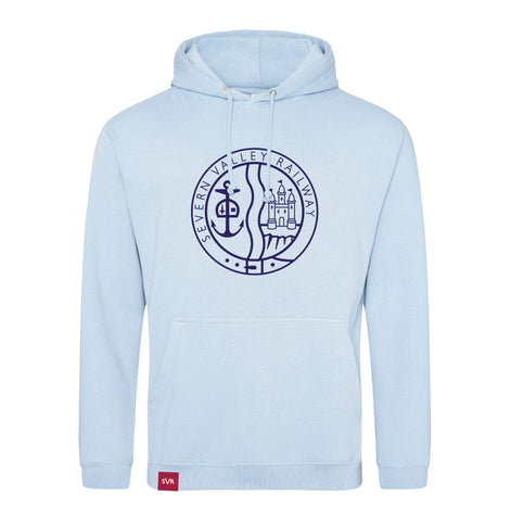 Sky blue Severn Valley Railway adult hooded sweatshirt -SVRW0028