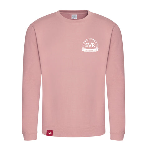 Dusty Pink Severn Valley Railway adult sweatshirt -SVRW0029