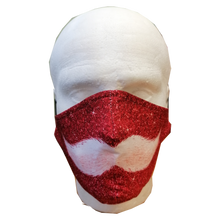 Load image into Gallery viewer, Festive Face Mask - Santa's Moustache