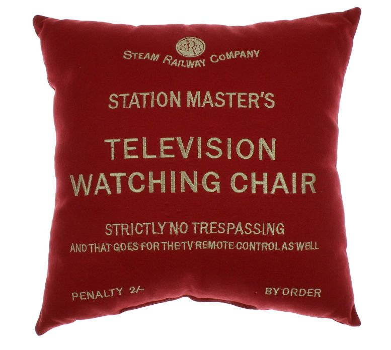 'Station Master's Television Watching Chair' Cushion in Red