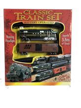 Load image into Gallery viewer, Large-sized Battery Operated Classic Train Set featuring 3.5m of track!