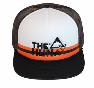 TRUCKER HAT - FOAM & MESH   //  SNAPBACK - White/Black/Camo/Orange  TRUCKER HAT, Pre Curved Trucker, Ball Caps, Trucker Hat, Baseball Cap, Lids, Mesh Snap Back