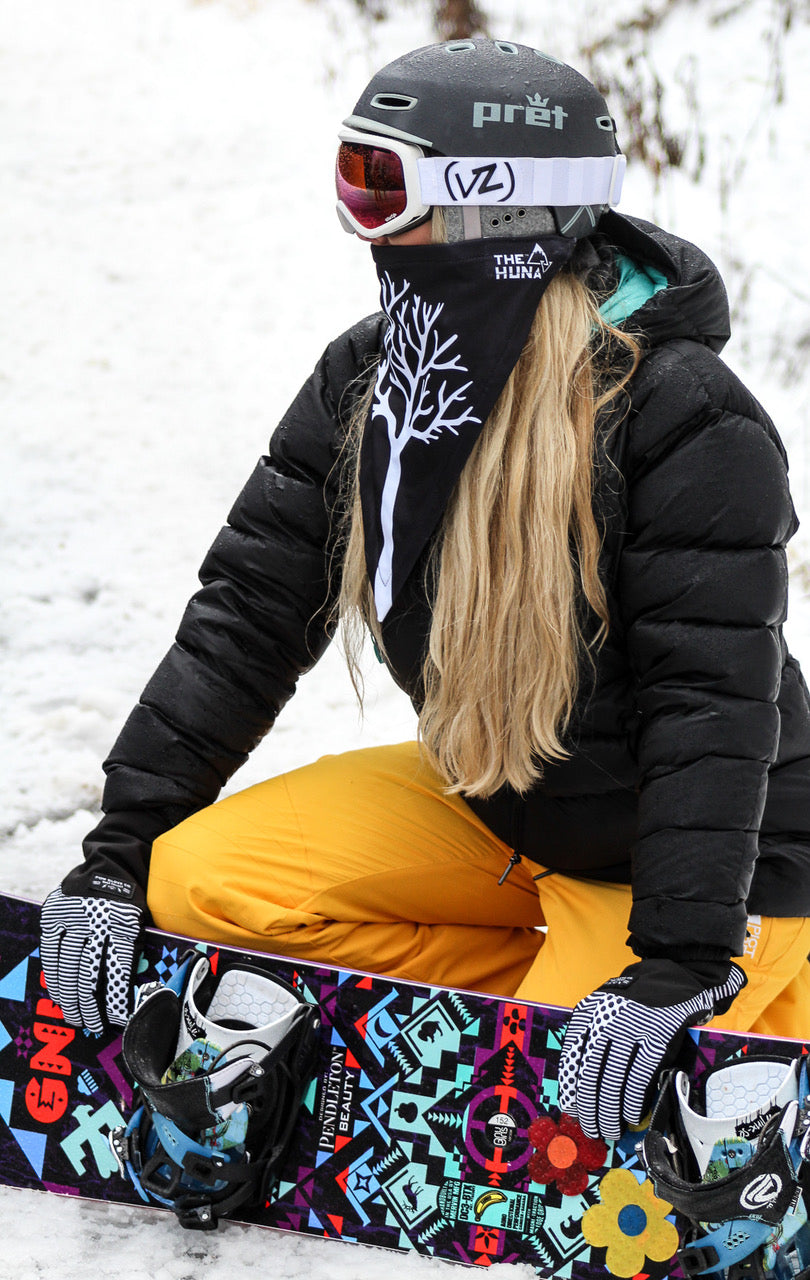The Huna bandanna style ski Mask is functional, breathable and fast drying. Cold weather neck warmer, Helmet Hood, Balaclava Hoodie, Clava, face mask skiing snowboarding, outdoor wear, thermal winter buff, womens gaiter, fashion, Cora, burk, bandanna scarf, pullover, Best beanies