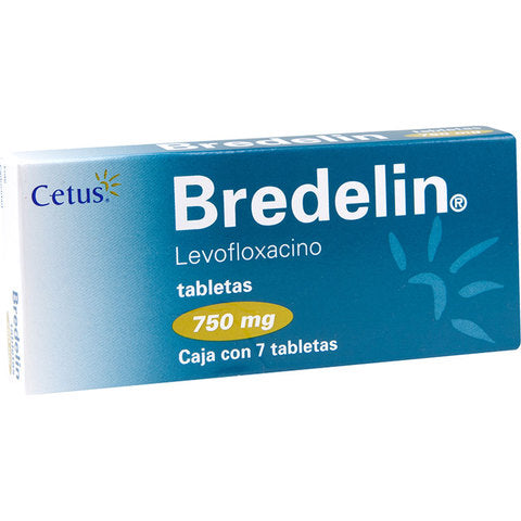 Bredelin levofloxacino 750mg c/7 tabletas