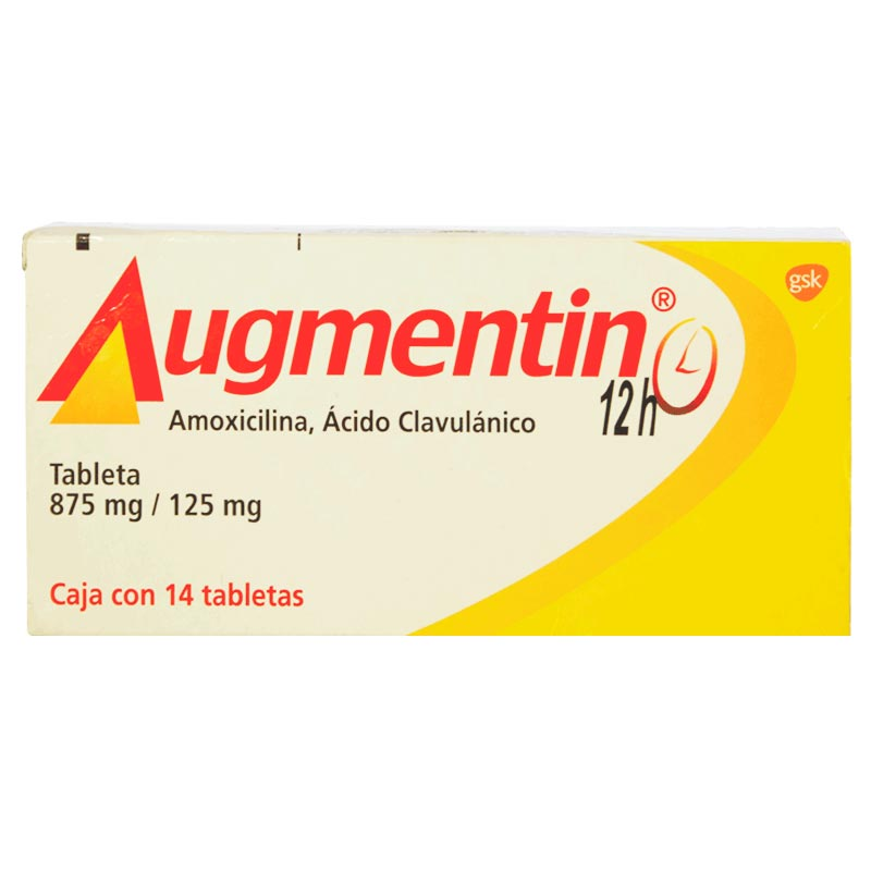 Augmentin 12hr tableta 875mg/125mg c/14 tabletas