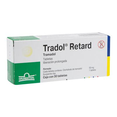 Tradol Retard 50 Tabletas Liberación Prolongada 50mg c/30
