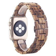 Load image into Gallery viewer, Bamboo Apple Watch Band (42mm Width)