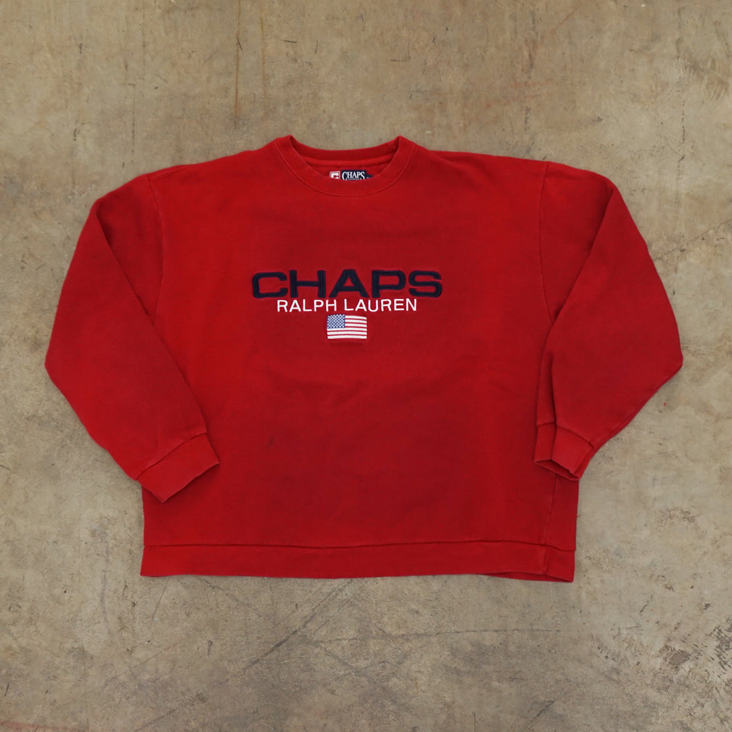 Chaps RL Red Crewneck Sweater