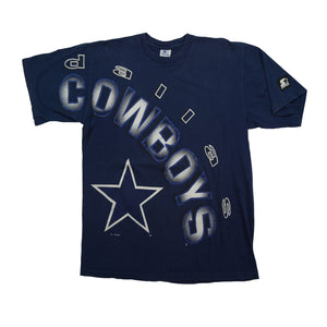 Vintage Starter Dallas Cowboys all over Front Print Tshirt
